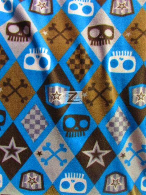 printable fabric wholesale wholesale skull bones print polar fleece fabric