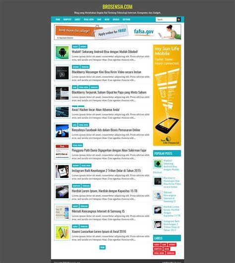 blogger adsense brosensia high ctr responsive blogger template
