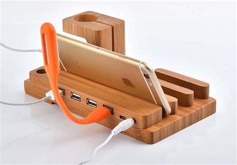 diy wood charging station the wooden charging station boasts integrated apple watch