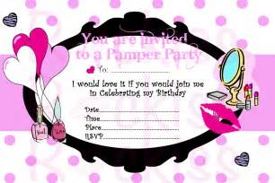 pamper party invitation make up party ready for an by