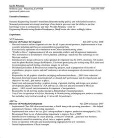 Resume Paragraph Exle by Dynamic Engineering Executive Sle Resume Introduction Paragraph Resume Introduction Paragraph