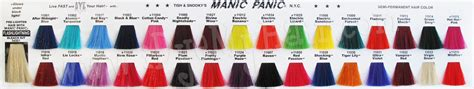 manic panic hair color chart 25 best ideas about manic panic on manic panic