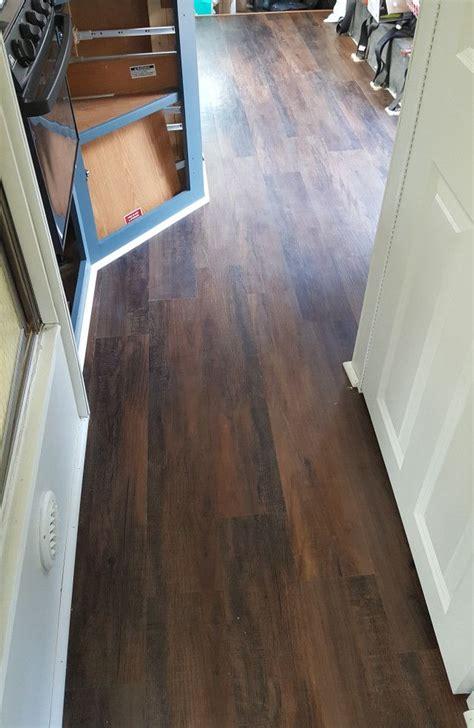 vinyl peel stick plank flooring in an rv via wandering arrows blog cer stuff