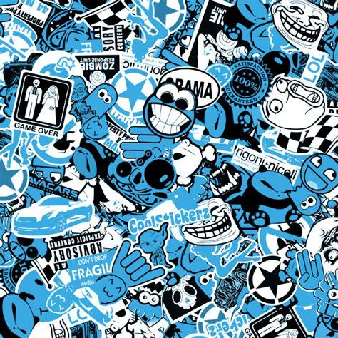 Jp Wallpaper Sticker Blue adhesive roll sticker bomb bicolor coolstickerz