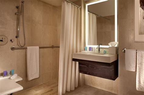 ada bathroom at conrad new york hilton home decor