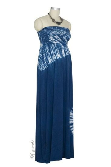 Zora Maxi by Zora Maxi Maternity Dress In Navy Tie Dye By Nom