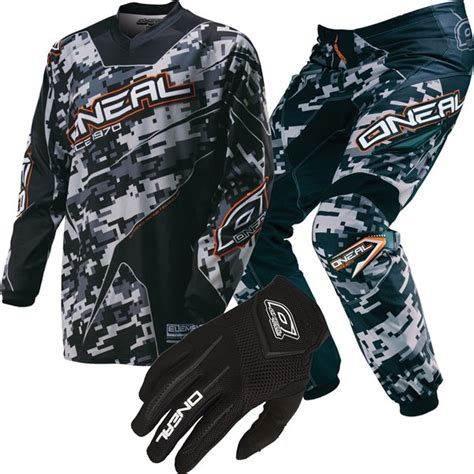 youth motocross gear package oneal racing element digi camo youth package deal