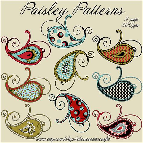 design graphics easy paisley patterns 9 png files paisley graphics paisley clip