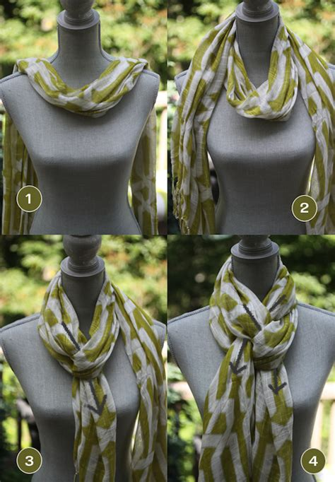 the pretzel knot my favorite way to tie a scarf