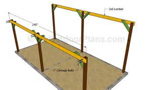 free wood carport plans images