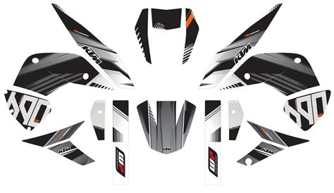 Stickers Red Bull Ktm 690 Smc by Aomc Mx Ktm 690 Duke Structure Graphic Kit 12 17