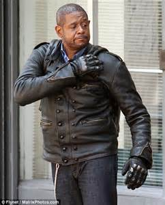 forest whitaker ncis forest whitaker looks biker tough as he shoots scenes for