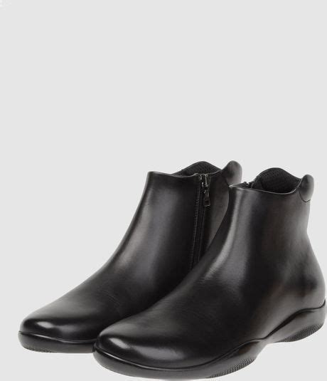 prada mens ankle boots prada sport ankle boots in black for lyst