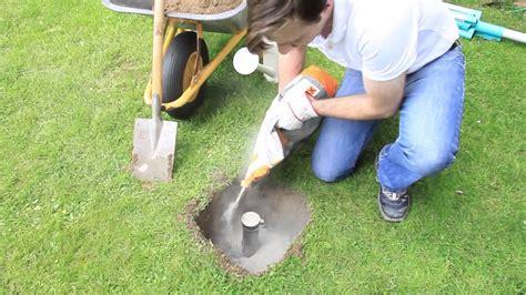 bodenanker ohne beton betonieren mit ruck zuck beton