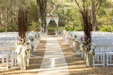 Wedding Aisle Decorations Rustic by Teal Lavender And Blush Rustic Florida Wedding Aisle