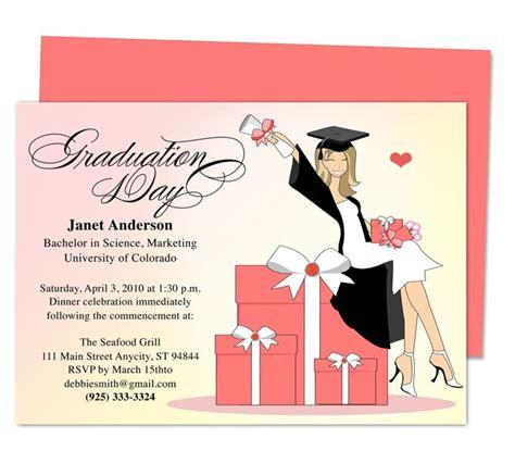 super cute luxury graduation party announcement  party