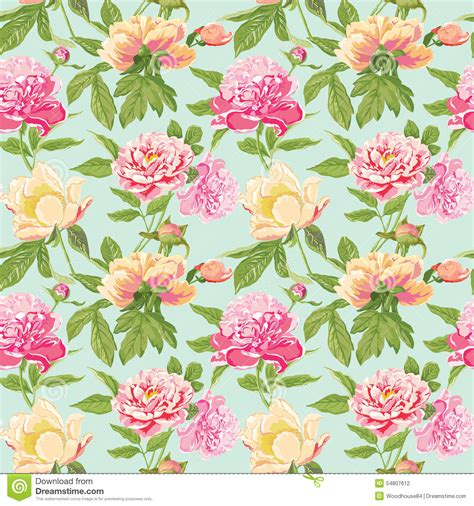 Wallpaper Bunga Floral Flower Shabby Chic Vintage Rustic 210602 vintage peony flowers background stock vector image 54807612