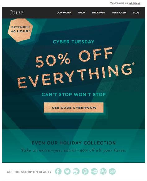 8 Awesome Black Friday Cyber Monday Email Caigns You Can Steal Black Friday Email Template