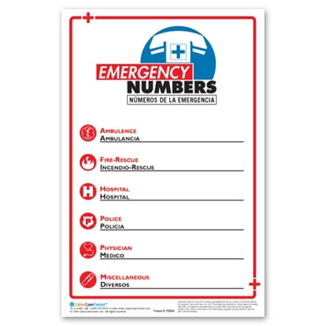 emergency room phone number emergency phone number poster