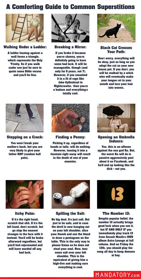 common superstitions a comforting guide to 9 common superstitions mandatory