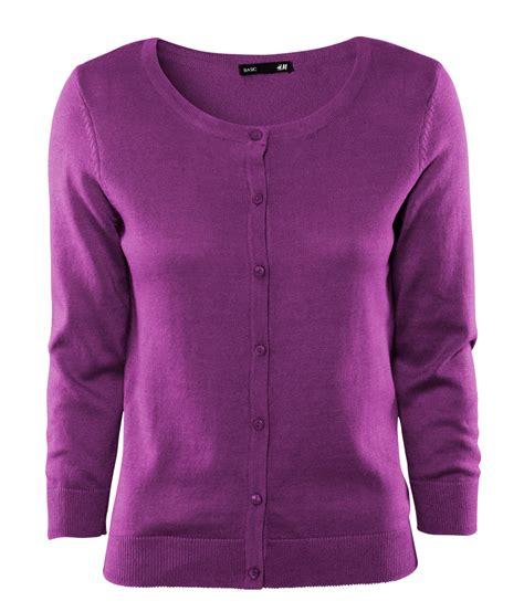 Purple Cardigan h m cardigan in purple lyst
