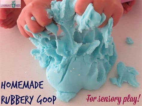 homemade rubbery goop recipe learning  kids