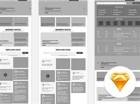 Intranet Website Wireframe Sketch Freebie Download Free Resource For Sketch Sketch App Sources Sketch Website Template Free