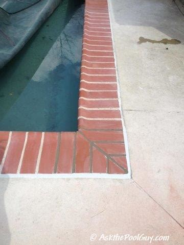 brick coping fractures   common   pool guy
