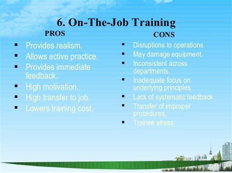 on the job training tools training as tool ppt bec doms mba hr