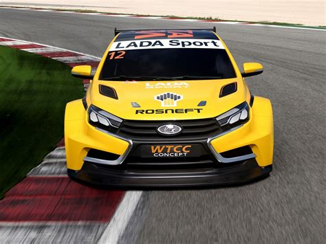 Wtcc Lada Lada Unveils Vesta Wtcc Racing Car Concept And It S