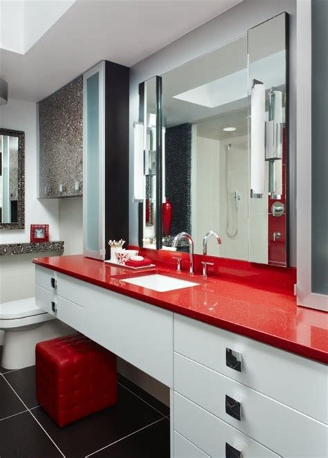 red white black bathroom black white and red in the bathroom abode