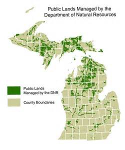 Michigan Public Land Map by Michigan State Owned Land Maps Bing Images
