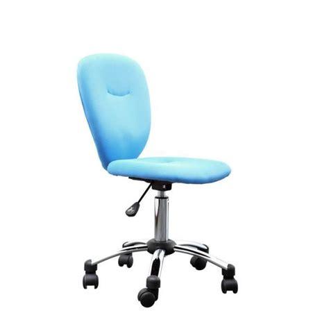 chaise de bureau pour enfant miliboo chaise de bureau enfant bleue lizzy achat