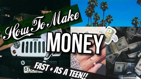 How To Make Money As A 13 Year Old Online - how to make money fast as a 13 year old youtube
