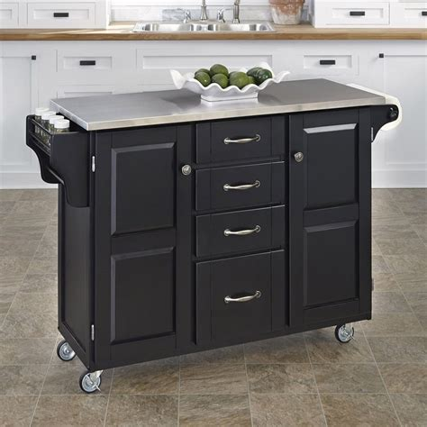 shop kitchen islands shop home styles 52 5 in l x 18 in w x 35 75 in h black