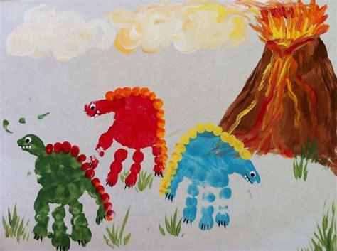 dinosaur craft projects dinosaur handprint crafts for letter dd