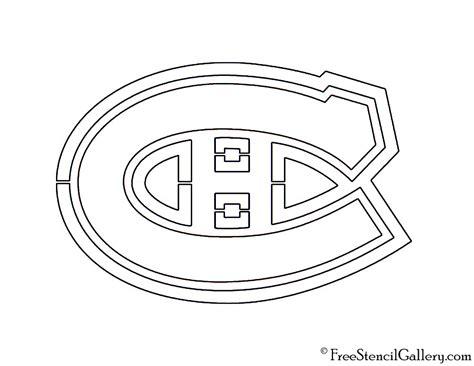 nhl montreal canadiens logo stencil free stencil gallery