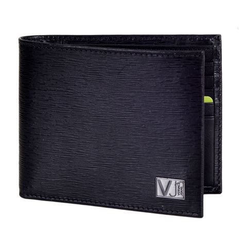 Leather Wallet Black cool black leather wallets for by versace