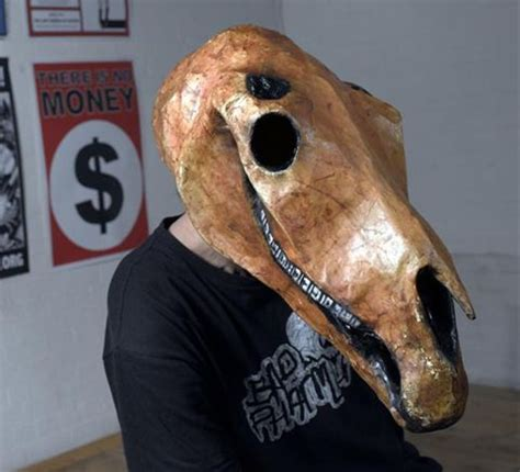 How To Make A Paper Mache Skull Mask - toothfish s paper mache skull mask things to