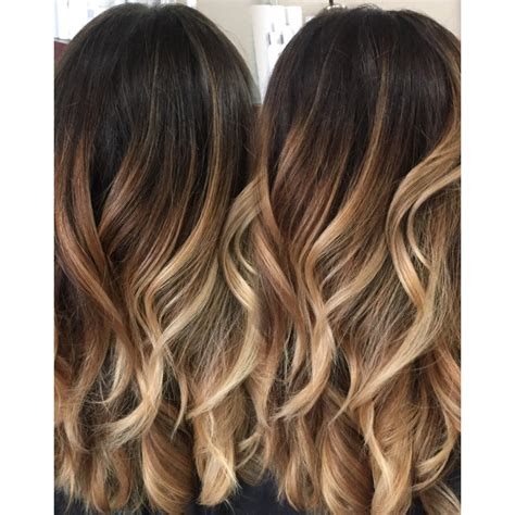 color melting vs ombre brown hairs