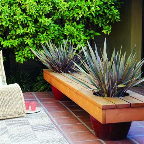 wooden bench with planters 9 diy planter benches for your outdoor spaces shelterness