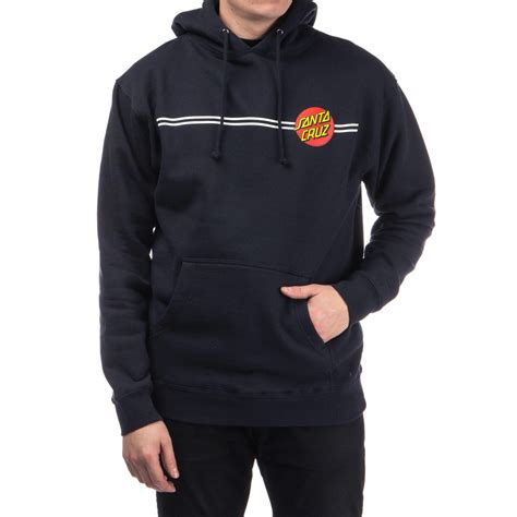santa cruz classic dot pullover hoodie navy