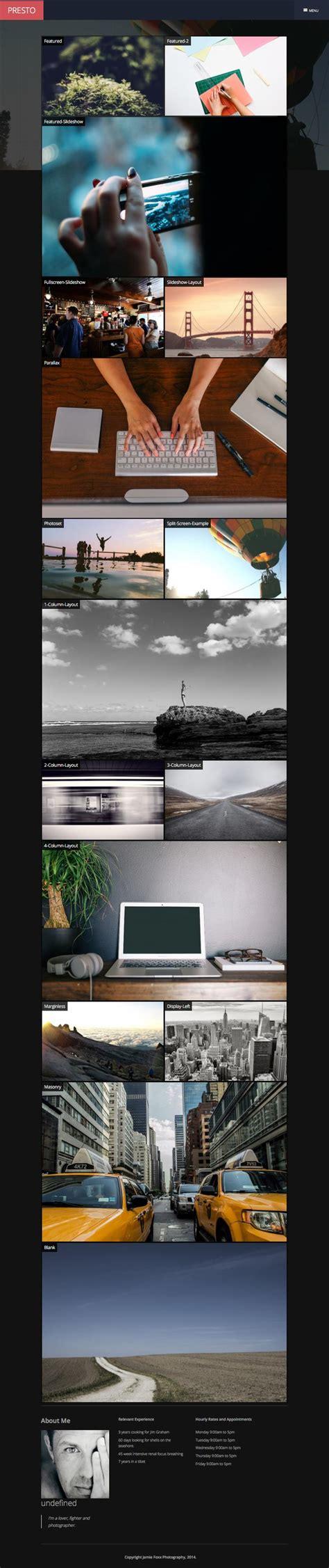 joomla themes gallery presto joomla ajax based drag drop gallery template