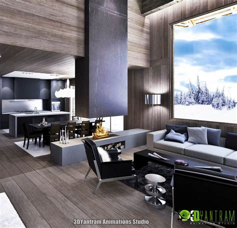 Photorealistic Interior Rendering by 3d Interior Rendering Modeling Illustration