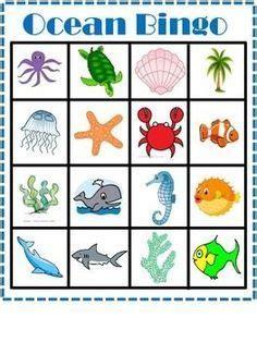 printable animal bingo for preschoolers free ocean bingo game teacherspayteachers com