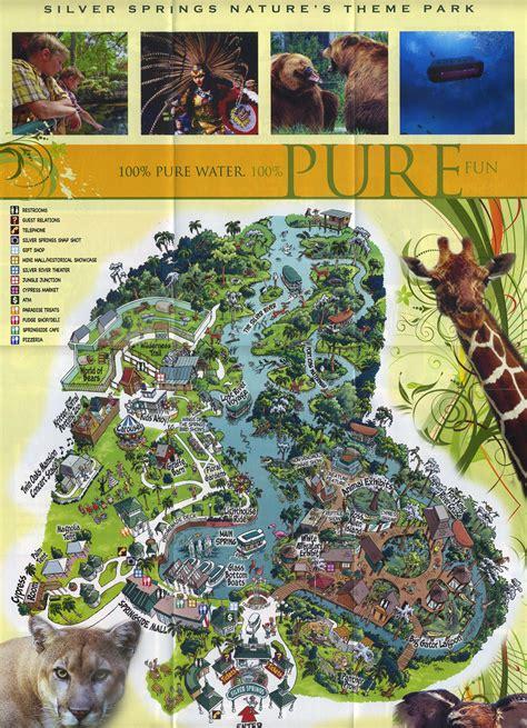 silver springs florida map theme park brochures silver springs theme park brochures