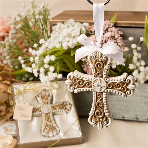 centros de mesa para bautizos en monterrey ivory arte floral gold vintage cross ornament favors