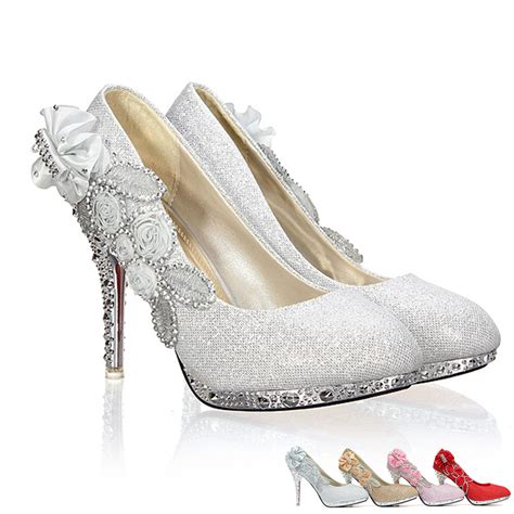 high heels 10cm wedding bridal evening cinderella