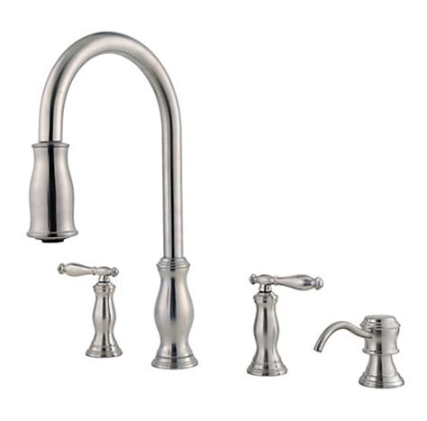 pfister hanover single handle pull down sprayer kitchen faucet in stainless steel gt529tms the 2 handle kitchen faucet with pull down spray wow blog