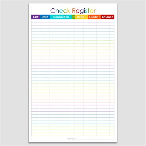 checkbook register 5 1 2 quot x 8 1 2 quot legacy templates